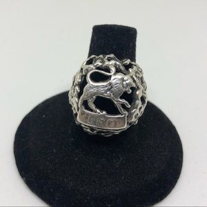Jewelry - Sterling Leo Zodiac sign ring